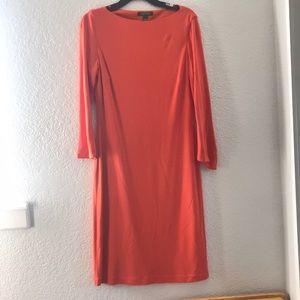 Lauren by Ralph Lauren Orange A line dress